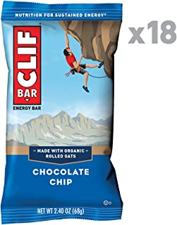 CLIF BAR - Energy Bars - Chocolate Chip - (2.4 Ounce Protein Bars, 18 Count)