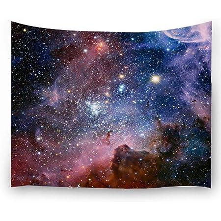 YeeATZ Rick and Morty Tapiz espacial para colgar en la pared tapiz de microfibra de melocot/ón 152,4 x 129,5 cm decoraci/ón del hogar tapiz vintage