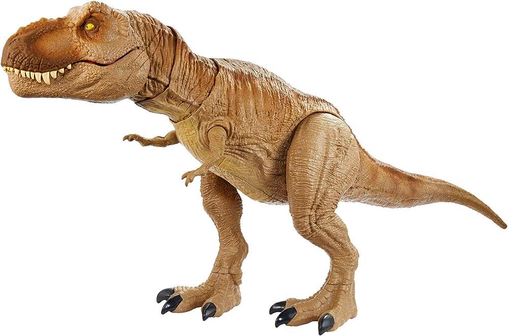Jurassic world  dinosauro, t-rex ruggito epico,con suoni e luci,per bambini dai 4 anni in su GJT60