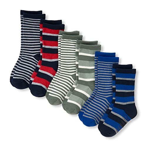 Pack of 6 The Childrens Place Big Boys 4876 Ankle Socks