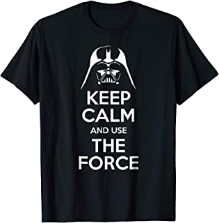 Best keep calm and use the force t shirt Reviews