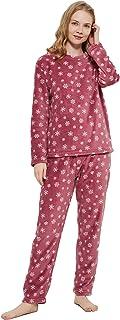PimpamTex – Pijama Coralina de Mujer Otoño-Invierno de Manga Larga Polar Calentito con Tacto Suave –