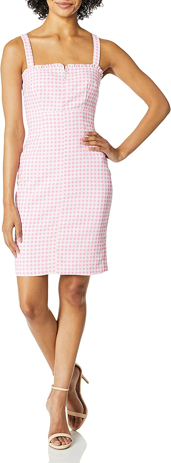 LIKELY Women's Keeley Gingham Printed 5 ☆ very popular Party Bargain Dress