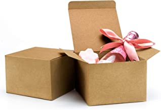 ValBox 20pcs Brown Gift Boxes 5 x 5 x 3.5 Recycled Paper Gift Boxes with Lids for Gifts, Cupcake Boxes, Easy Assemble Boxe...