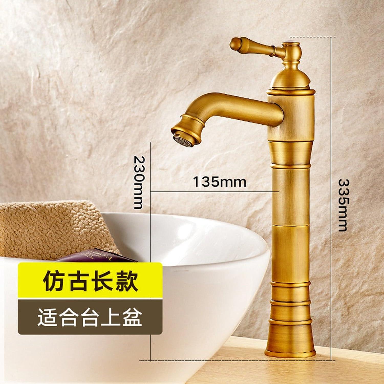 ETERNAL QUALITY Bad Waschbecken Wasserhahn Küche Waschbecken Wasserhahn Kupfer Hei Und Kalt über Dem Aufsatzbecken Waschtischmischer BQ1484ca