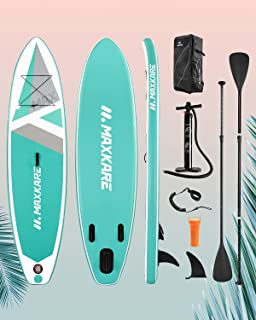 MaxKare SUP Inflatable Stand Up Paddle Board with 10'30''6'' Premium Paddleboard & Bi-Directional Pump & Backpack Portable...