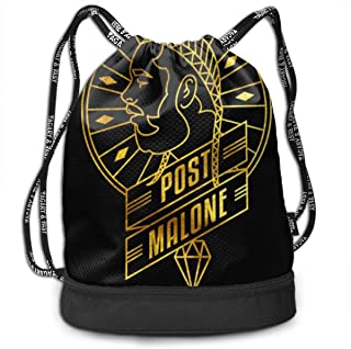 Post Ma-lone Drawstring Bags Gym Bag Black Convenient FashionOne Size Lightweight And Strong