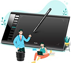 Parblo A610 V2 Drawing Tablet, 10 x 6 Inches Large Working Area Graphic Tablet, 8192 Levels Battery-Free Stylus Tablet with 8 Hotkeys, Compatible with Windows and Mac OS