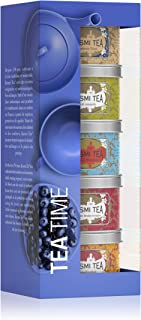 Kusmi Tea - Afternoon Tea Sampler - Assortement of 5 Exclusive, Flavored, Loose-Leaf Black & Green Tea Blends Inlcuding Prince Vladimir, Kasmir Tchai & AquaExotica in Eco-Friendly Metal Tins