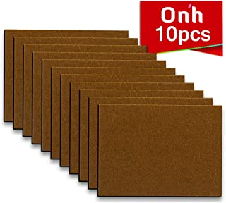 """Furniture Pads - 10 Pack ON'H Self-Stick Felt Furniture Pads with 3M Tapes Hardwood Floors Protectors – 8"""" x 6"""" x 1/5"""" Sheet Cut into Any Shape – Brown"""