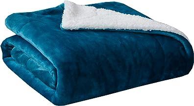SOCHOW Sherpa Fleece Throw Blanket, Double-Sided Super Soft Luxurious Plush Blanket Twin Size, Teal Green