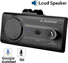 Avantree CK11 Hands Free Bluetooth Car Kits, Loud Speakerphone, Support Siri Google Assistant & Motion Auto On Off, Volume Knob, Wireless in Car Handsfree Speaker Kit with Visor Clip - Black