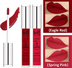 MI Fashion Matte Lipsticks Lipstick Red, Light Pink Lipstick Liquid Lipstick Set of 2 Pcs 3ml each