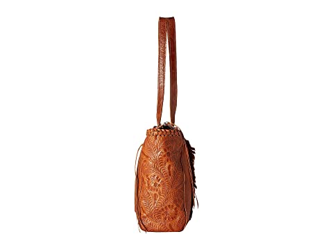 Secret Golden secreto West Clay Zip Top Tan American Tote compartimiento con Annie's qTAOEEwxf
