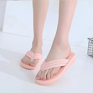 女性のスリッパファッション屋外夏の滑り止め厚いボトムスリッパビーチサンダルの靴 ( 色 : ピンク ぴんく , サイズ さいず : US:7\UK:6\EUR:39 )