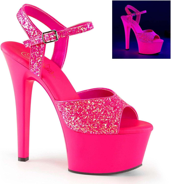 Pleaser Womens asp609g s m Platform Sandal