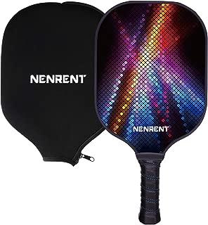 NENRENT Pickleball Paddle-Premium Graphite Pickleball Racket Honeycomb Composite Core Paddle Set Lightweight Carbon Fiber Pickleballs Racquet Edge Guard Ultra Cushion Grip Paddle with Cover 7.8-8 OZ