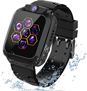 """Kids Smartwatch GPS Tracker Phone - 2019 New Waterproof Children Smart Watches with 1.4"""" Touch Screen SOS Phone Call Talki..."""