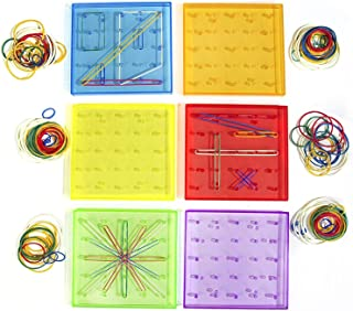 Think Fast Toys - Translucent GeoBoard Set for Early Preschool Education and Play! Explore Basic Geometry and Complex Patt...