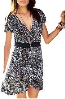ANISTON Damen Longshirt Strickkleid Minikleid Gr 40 gestreift grau anthrazit