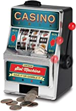 Ideas In Life Coin Bank Slot Machine – Casino Fun Spinning Reels Piggy Bank Novelty Mini Tabletop for Kids and Adults