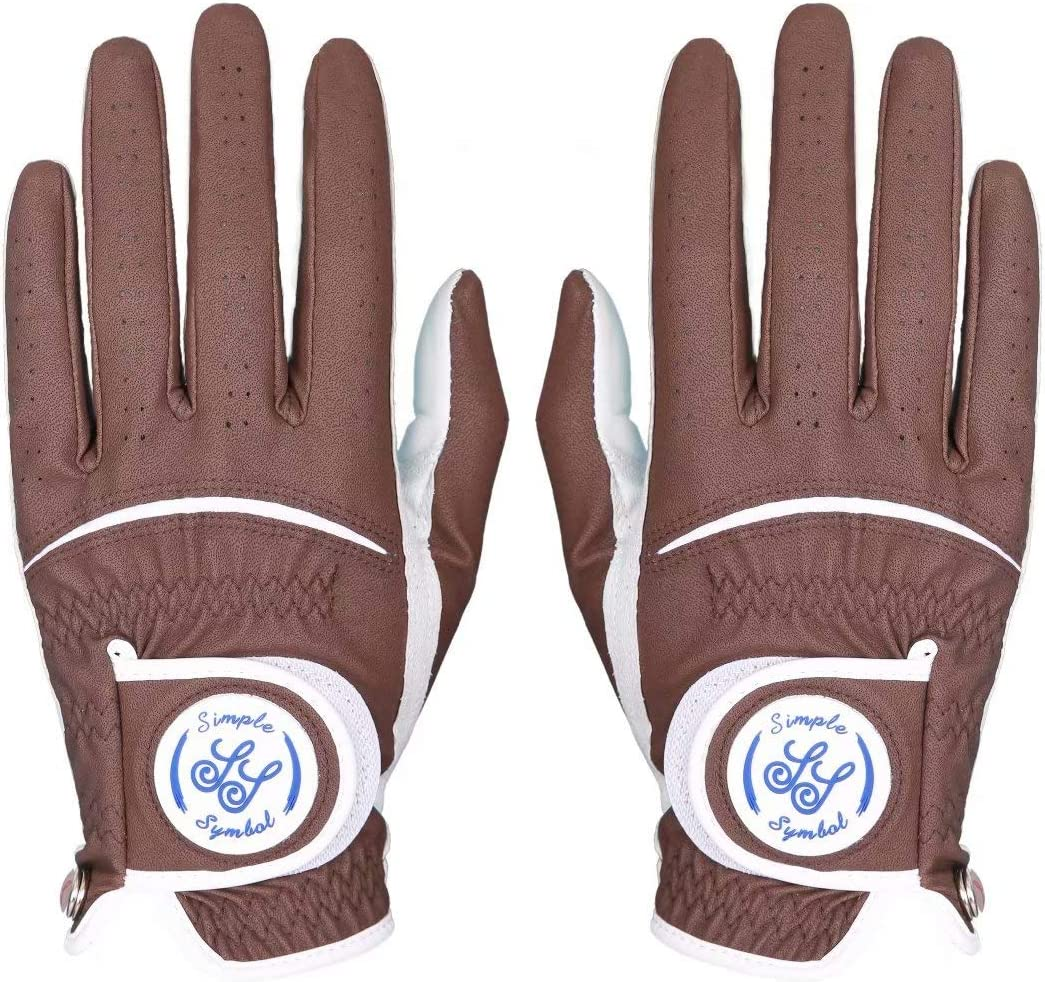 Simple Symbol Men's Golf Manufacturer direct delivery Glove Grade Two Product Leather Pack(Two High