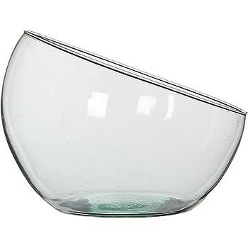 Realizzato a Mano Diametro: 20 cm Vaso a Sfera in Vetro Riciclato Ladna
