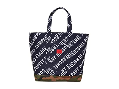 Herschel Supply Co. Bamfield Mid-Volume (Roll Call Peacoat/Woodland Camo) Tote Handbags