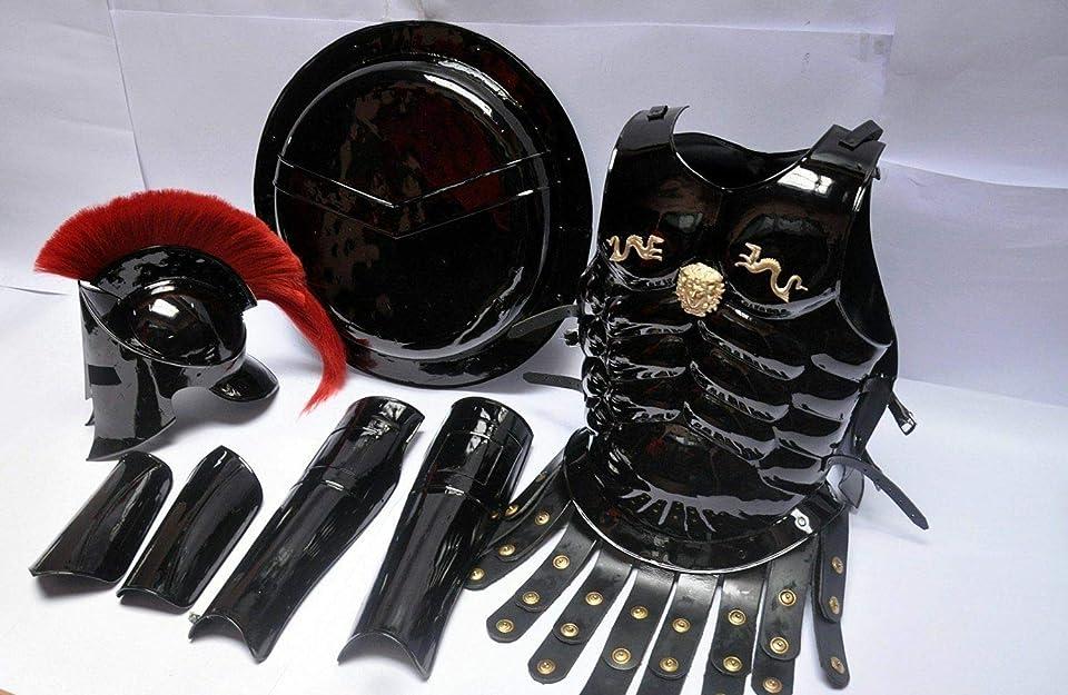 300 Medieval King Roman Spartan Helmet with Muscle Jacket HM779 War Armor Shield