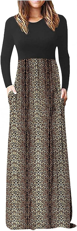 KYLEON Women's Short Sleeve Maxi Dress with Pockets Plain Loose Casual Tunics Dresses Elegant Floral Summer Long Dress