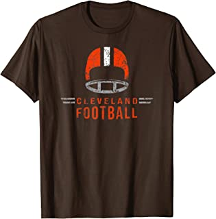 Cleveland Ohio Football Vintage Dawg Helmet Retro T-Shirt