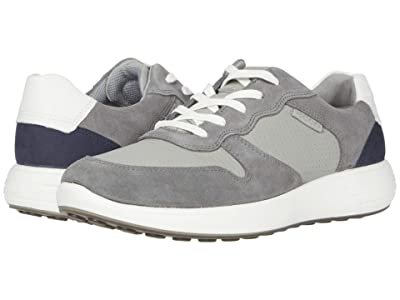ECCO Soft 7 Runner Retro Sneaker (Titanium/Wild Dove/White/Navy) Men