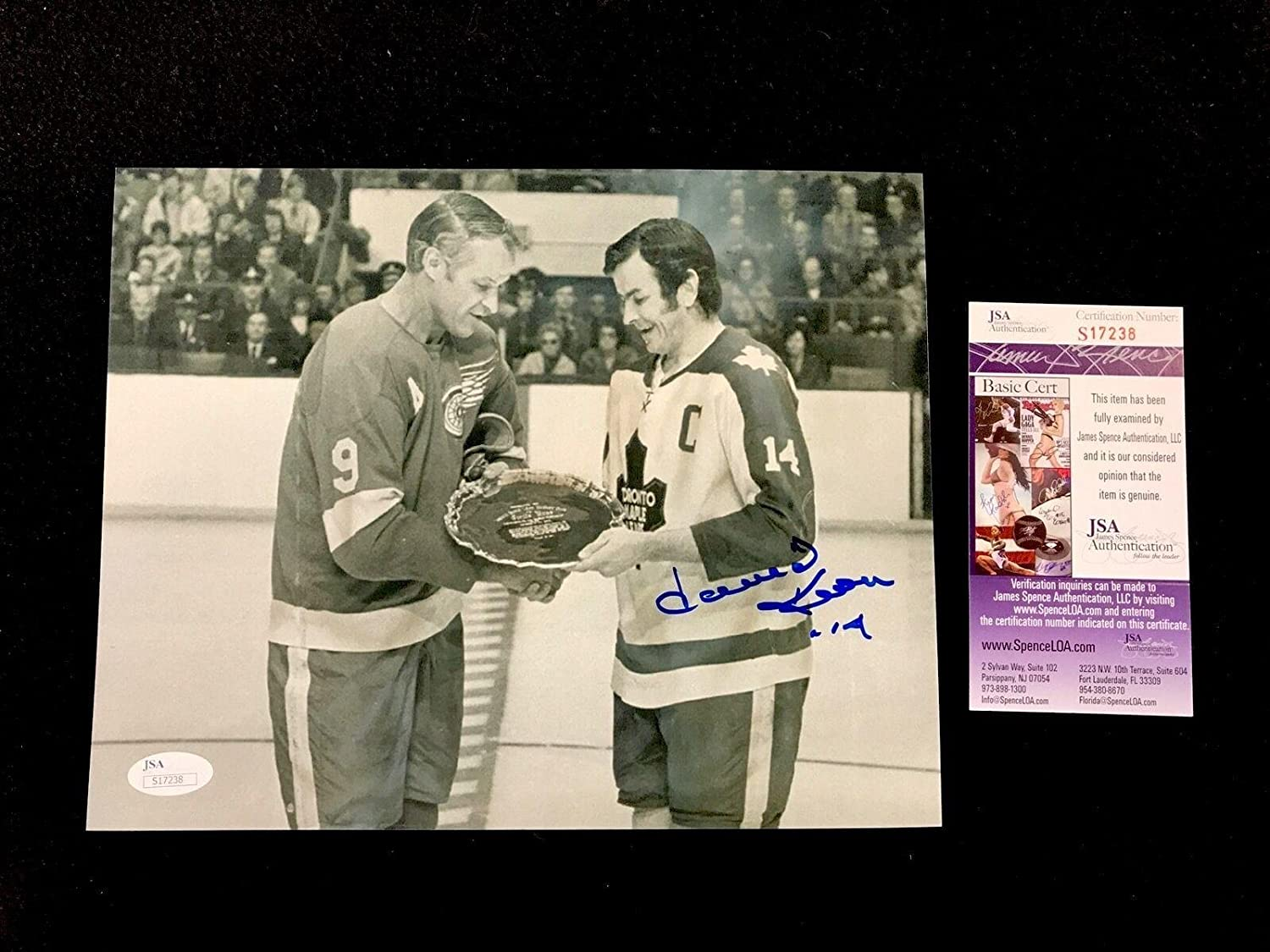 Signed Keon Photograph  8x10 Authenticated S17238  JSA Certified  Autographed NHL Photos