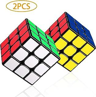 LOVEXIU Cubo Magico 3x3x3, Cubo 3x3 2 PCS, Speed Cubo 3x3, Speed Cube Profesional de Rápido Suave Durable y Fácil Giro para el Juego de Entrenamiento Cerebral Adultos y niños