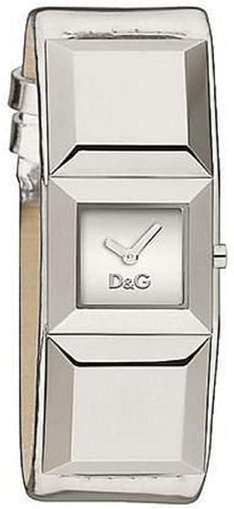Dolce & gabbana,orologio da donna, cassa in acciaio e cinturino in pelle DW0272