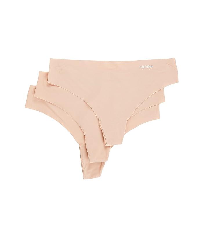Calvin Klein Underwear Invisibles 3-Pack Thong (Light Caramel/Light Caramel/Light Caramel) Women's Underwear
