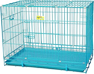 Poofy's Pet Island Dog/Cat Powder Coated Double Door Cage with Removable Tray Folding Cage 36 inch