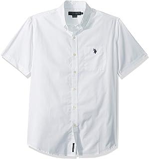 U.S. Polo Assn. Men's Classic Fit Short Sleeve Solid Poplin Sport Shirt