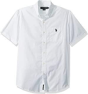 Men's Classic Fit Short Sleeve Solid Poplin Sport Shirt