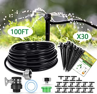 HIRALIY 50ft /15M Drip Irrigation Kits 1/4