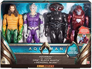Aquaman True Movie 4 Pack of 12 inch Articulated Action Figures with General Murk