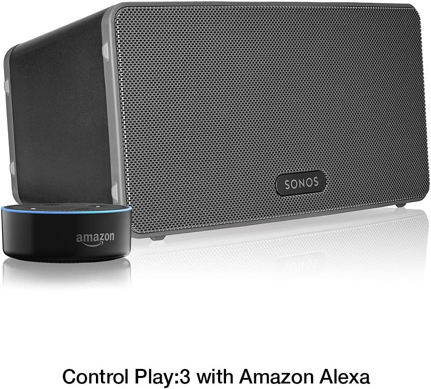 Sonos Play:3 - Mid-Sized Wireless Smart Home Speaker for Streaming Music,  Certified and Works with Alexa. (Black): Home Audio & Theater