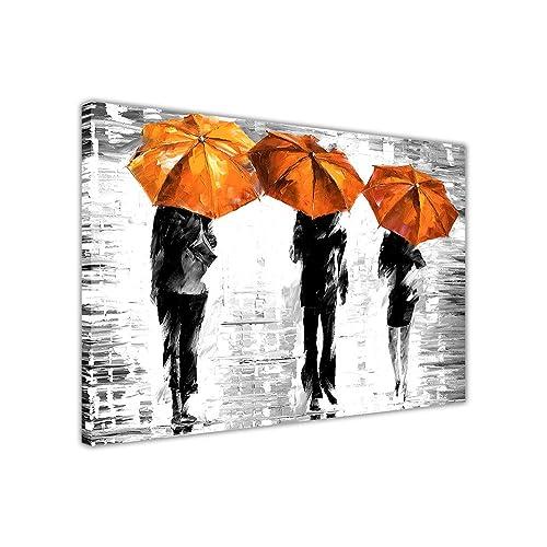 Orange Abstract Art Amazon Co Uk