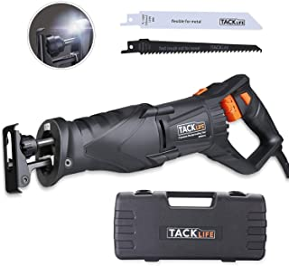 TACKLIFE Reciprocating Saw, 7 Amp, 2800SPM, Sawzall with LED Light, Rotatable Handle Design, Lock-on Button, 2 Saw Blades for Wood and Metal, Sturdy Box-RPRS01A