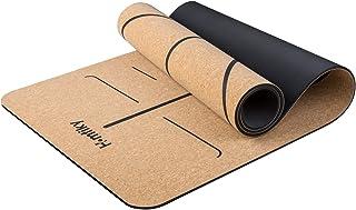 comprar comparacion Homtiky Esterilla Yoga Antideslizante, Colchoneta Yoga de Corcho, Esterilla Deporte Hecha de Material Natural, Yoga Mat de...