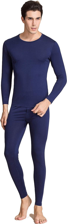 CLC Men's Wool Silk Knitted Thermal Underwear Pajama Set