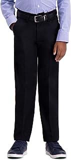 Haggar Big Boys' Youth Slim 8-20 Premium No Iron Khaki Pant