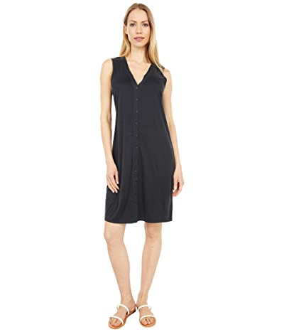 Lucky Brand Sandwash Rib Tank Dress (Washed Black) Women
