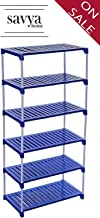 Savya home® Multipurpose Rack 6 Shelves Book Shelf Shoe Rack (6 Shelf)
