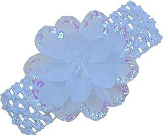Baby Girls Celeste Sequin Flower Crochet Headband By Funny Girl Designs